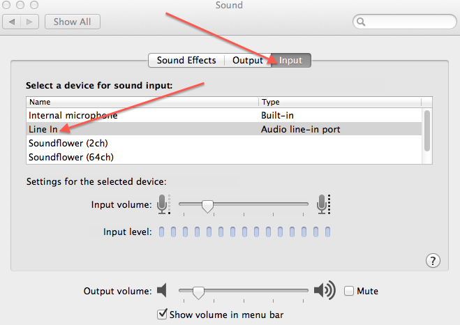recording sound to your computer mac line in